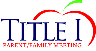 Title I parent family meeting logo with apple background